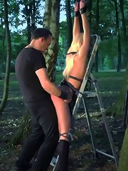 Outdoor domination lesson in which gorgeous sex ..